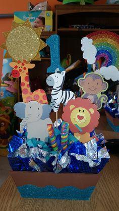 Baby First Birthday, Baby Birthday, First Birthday Parties, First Birthdays, Safari Decorations, Kids Party Decorations, Party Themes, Noahs Ark Party, Noah Ark