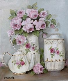 Art | Винтажно-цветочное в нежно розовом | Gail McCormack.. Обсуждение на LiveInternet - Российский Сервис Онлайн-Дневников