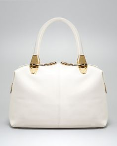 Tom Ford  Natasha Ivory Calfskin Satchel bag. Every Bride needs this accessory on wedding day dammit!!! Even if she doesn't have to hold it down the aisle.
