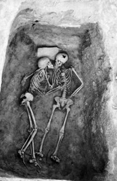 The 6000 year old kiss found in Hasanlu, Iran. Love is Stronger than time.