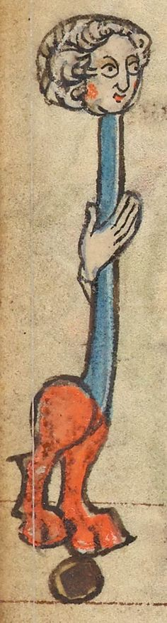 Hybrid Man with Long Neck    Book of Hours   France, Saint-Omer   between 1320 and 1329   The Morgan Library & Museum