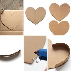 DIY: How to make a post-it heart pinata Diy Gift Box, Diy Box, Diy Gifts, Craft Stick Crafts, Diy And Crafts, Paper Crafts, Valentines Gift Box, Diy Birthday, Boyfriend Gifts