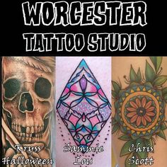 We have three fantastic artists at Worcester Tattoo Studio all of which have their own unique style. They love creating custom designs; taking your ideas and making you a unique piece from those elements. They also offer their own original designs these cover many different themes and styles ranging from large to small and including both black & grey as well as colour designs. So come and see us on Fish St WR1 2HN to meet Kryss (@tattoosbykrysshalloween) Sammie Lou (@sammielou_tattoos) and…