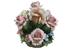 "Capodimonte Rose Centerpiece  -  12""W x 12""H  -  OneKingsLane.com  -  ($500.00)  $299.00"