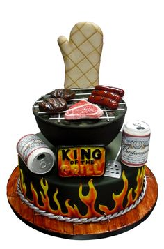 Image result for bbq birthday cake images