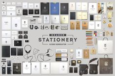 Check out Header Stationery Scene Generator by itembridge creative store on Creative Market