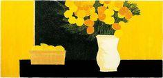 Lithograph | Grande nature morte jaune et noire ⋅ 1990 — 112 × 234 cm, Bernard Cathelin - official website