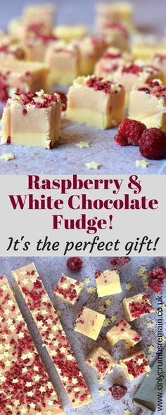 Homemade Raspberry and White Chocolate Fudge, with its pretty colour contrast and classic flavour combo, is perfect as a gift for loved ones or offered as party nibbles. Fudge Recipes, Candy Recipes, Sweet Recipes, Baking Recipes, Dessert Recipes, White Chocolate Fudge, White Chocolate Raspberry, Chocolate Tarts, Chocolate Trifle