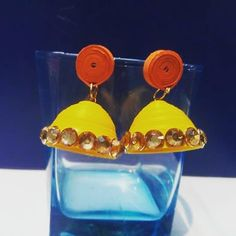 quilling earrings.... Quilling Earrings, Meraki, Drop Earrings, Photo And Video, Videos, Instagram, Drop Earring, Video Clip