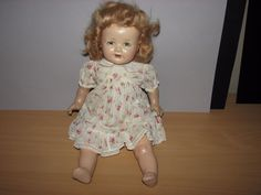 """VINTAGE 17"""" AMERICAN CHARACTER COMPOSITION CLOTH BABY DOLL BROWN SLEEP EYES  #DollswithClothingAccessories"""