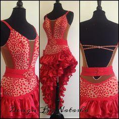 Baile rojo vestidos de baile latino