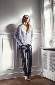 First Fall and Winter Fashion Inspiration - Esprit - That grey v-sweater looks so soft and comfy!
