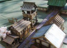 More Kamioka Bitz. Lead Adventure, Japanese Buildings, Game Terrain, Japanese Models, Model Building, 17th Century, Diorama, Arquitetura, Dibujo