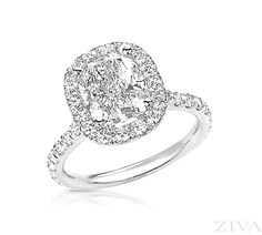 YES YES YES. Cushion Cut Engagement Ring with Halo