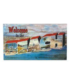 Look at this #zulilyfind! Retro Beach Sign #zulilyfinds