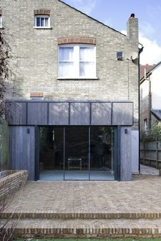 Charred wood cladding on residential property in Enfield, UK - Accoya Exterior Solutions, Charred Wood, Rear Extension, Timber Cladding, London House, House Extensions, Brickwork, Architectural Elements, Little Houses