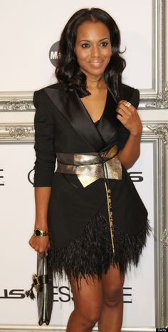 this is cute..love the blazer!~ Kerry Washington's Style