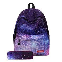 6162813eb88 Fashion Women Girls Canvas Travel School Bag Backpack Rucksack with Pen Bag  Stripe Design Kanken Backpack