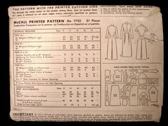 Vintage McCall Sewing Pattern #7753 Junior Dress Size 13 1949 - The Best Vintage Clothing  - 2