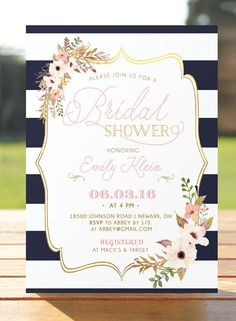 Bridal shower invitation bridal brunch by WisemonkeyPaperie