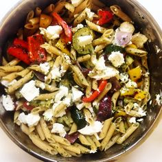 Roasted Vegetable and Goat Cheese Pasta | My Foodie Noodie #recipe