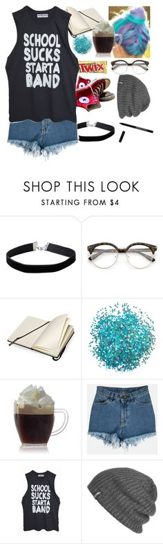 """""""4 years"""" by infizity ❤ liked on Polyvore featuring Miss Selfridge, Sanders, Converse, Moleskine, Outdoor Research and Manic Panic NYC"""