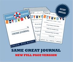 NOW AVAILABLE AS AN 8.5 X 11 PRINTABLE--This listing is an instant download with a cover page AND eight journal pages to cover all of the