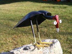 Scrap Metal Buzzard Price includs shipping by SampsonMetalWorks Welding Art Projects, Metal Projects, Metal Crafts, Metal Yard Art, Scrap Metal Art, Velo Tricycle, Metal Art Sculpture, Abstract Sculpture, Bronze Sculpture