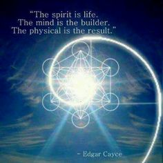 The mind is the builder...--Edgar Cayce