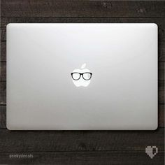 Geeky glasses Macbook Decal. $3.50, via Etsy.