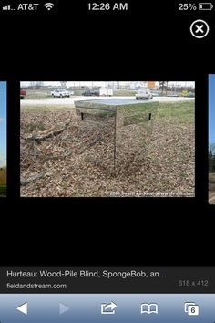 Coolest deer blind ever. 100% reflective, will blend into any location. Maybe hard to keep clean?