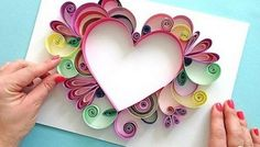 Comment faire facile Quilling - Comment faire facile Quilling The Effective Pictures We Offer You About diy projects A quality pic - Paper Quilling Patterns, Quilled Paper Art, Quilling Paper Craft, Paper Crafts, Quilling Ideas, Quilling Flowers, Quilling Letters, Paper Beads, Paper Flower Art