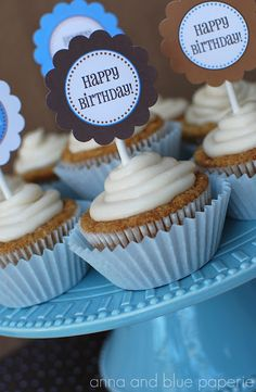 Happy Birthday tags @anna and blue paperie