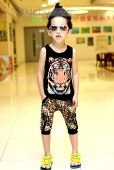 Fashionable Boy New Arrival Summer Korea Style Leisure Suit : Tidebuy.com