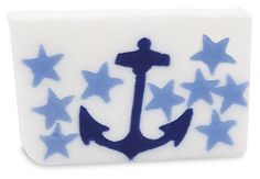 Creative Treasures carries a wide variety of soaps.  One in particular is the vegetable glycerin bar soap from Primal Elements. This Anchor bar has notes of cool cucumber and sunny melon that  anchors this nautical inspired bar.