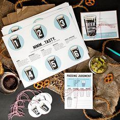 Printable Beer Tasting Party Kit from Semi Sweet Press