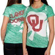 Oklahoma Sooners Ladies King Shamrock Sublimated Burnout T-shirt