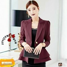 Blazers Classy Feminine Women Blazers & Coats Fabric: Cotton Pattern: Solid Multipack: 1 Sizes:  S (Bust Size: 34 in Length Size: 24 in)  XL (Bust Size: 40 in Length Size: 24 in)  L (Bust Size: 38 in Length Size: 24 in)  M (Bust Size: 36 in Length Size: 24 in) Country of Origin: India Sizes Available: S, M, L, XL   Catalog Rating: ★3.9 (474)  Catalog Name: Comfy Modern Women Blazers & Coats CatalogID_1926886 C79-SC1029 Code: 815-10541798-