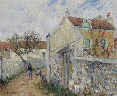 All sizes | Gustave Loiseau - La Petite Rue à Triel-sur-Seine (Rue à Pissefontaine) [c.1905] | Flickr - Photo Sharing!