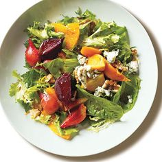Roasted Baby Beets and Blood Orange Salad with Blue Cheese Recipes   CookingLight.come