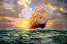 thomas kinkade courageous voyage - Google Search