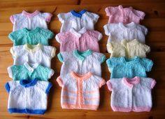 Premature Baby Cardigans - Charity Knitting - http://mariannaslazydaisydays.blogspot.co.uk/2013/02/loving-hands-when-my-girls-were-young-i.html