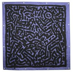 Keith Haring, Untitled, 1981, Vinyl ink on vinyl tarpaulin, Collection The Whitney Museum of American Art.