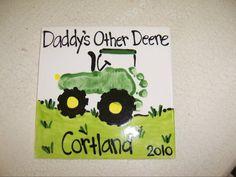 John Deere tractor foot print