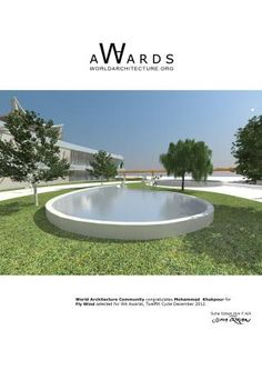 The aim of this project focus on sustainable issue for cooling system inside the building by using of natural element such as wind and water and greenery courtyard further more consider of sun rad Award Poster, Architecture Awards, Greenery, Facade, Entrance, World, Building, Outdoor Decor, Entryway