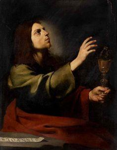 Saint John the Evangelist ♥ (ca. 1607-1608) by Jusepe de Ribera, Louvre Museum