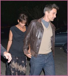 Pregnant Halle Berry, wearing an adorable printed wrap skirt, spotted in West Hollywood with husband Olivier Martinez. | Babyrazzi