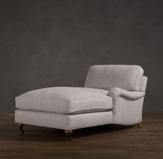 English Roll Arm Upholstered Chaise