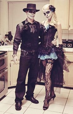 Our take on Dia de los Muertos/ Day of the Dead Halloween costume: