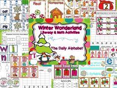 A Winter Wonderland Literacy and Math Activities